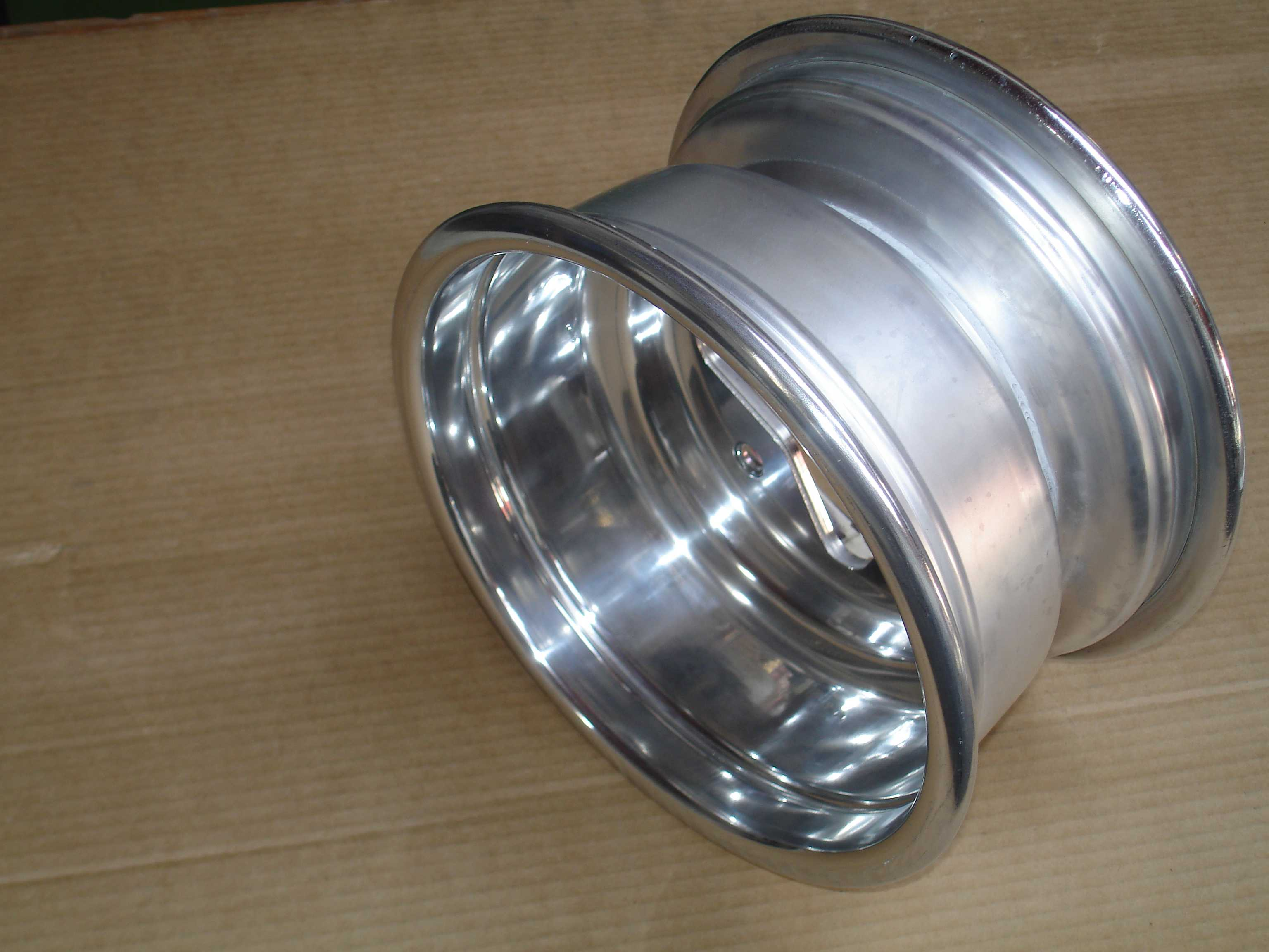 Polished quad bike rim